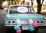 wedding getaway car decorations